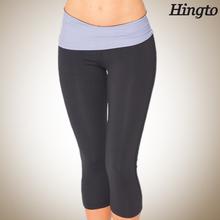 Small quantity ladies bamboo fiber yoga wear crop pants
