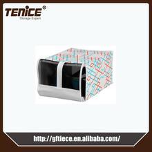 Tenice new printing fabric cardboard shoe storage drawer box