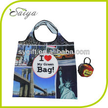 fashion new design reusable foldable nylon bag/nylon shopping bag