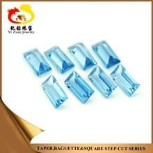 big store rough process baguette step cut light aquamarine gem stones for whole sale in factory price