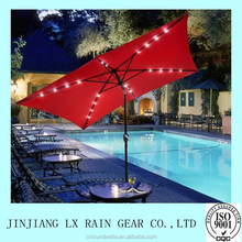 2015 Outdoor promotional china solar led beach umbrella with tassel