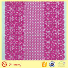 15 cm wide high quality lavender floral pattern stretch lace trim
