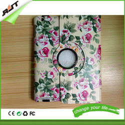 Smart Cover Magnetic For iPad 2 3 4 360 Rotating Flowers PU Leather Cover Case For ipad air 2