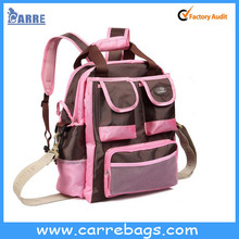 de color rosa de la moda bolsa de pañales de bebé bolsa nuevo bolso de la momia
