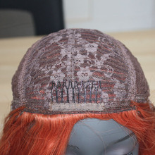 Customized human hair wig to quality origin color deep wave hair wig making machine