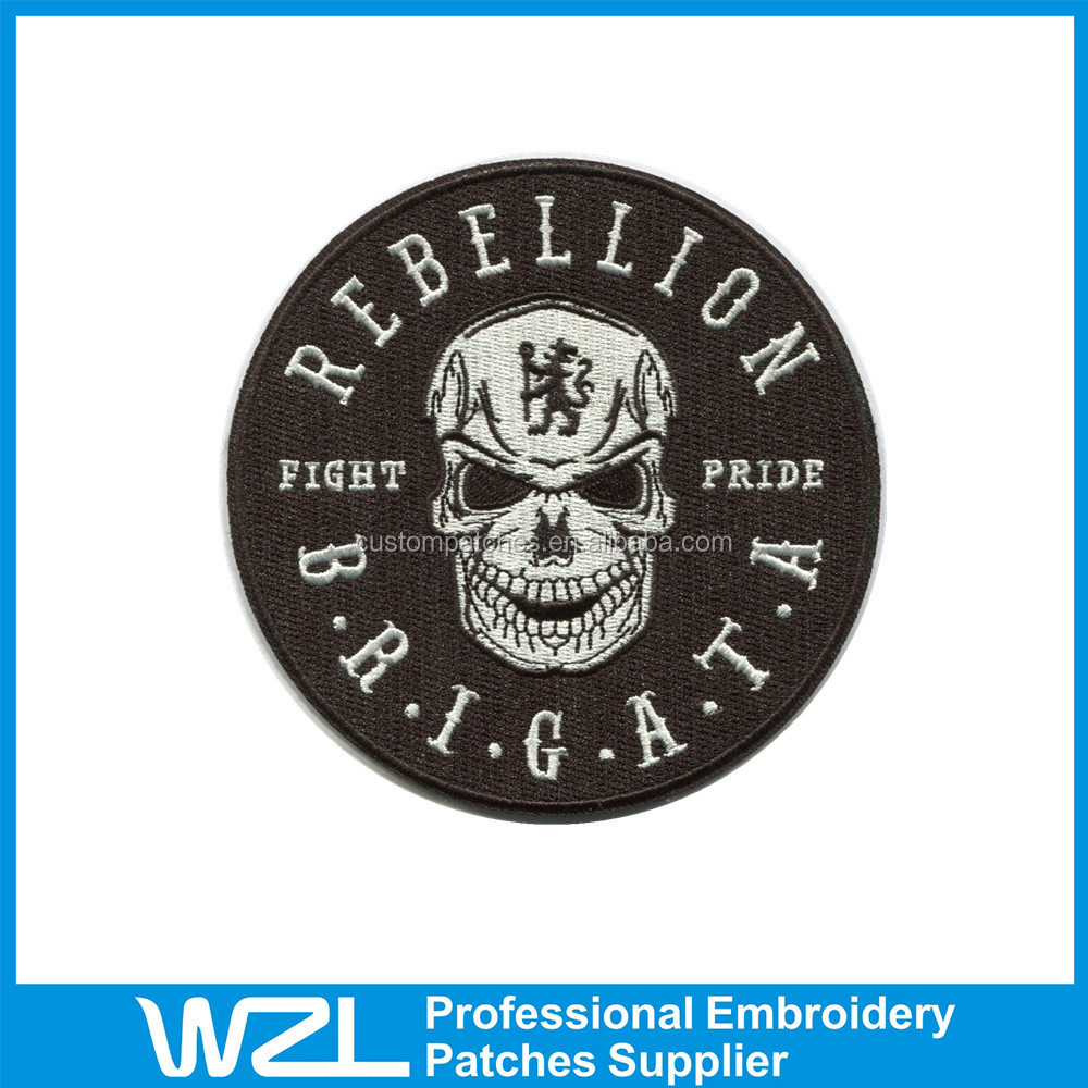 Professional custom embroidered patches no minimum