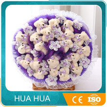 new design of soft plush toy teddy bear for bouquet