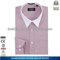 Latest Design Business Men's Dress Shirts With Blue Stripe Men Shirt
