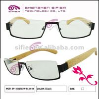 2012 New Fashion Wooden Temple Spectacle Frame Hot Sell