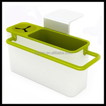 Kitchenware Helper Sink Side Caddy, Sink Side Self-Draining Sink Caddy holder for Sponge,storage box for dish cloth, brush