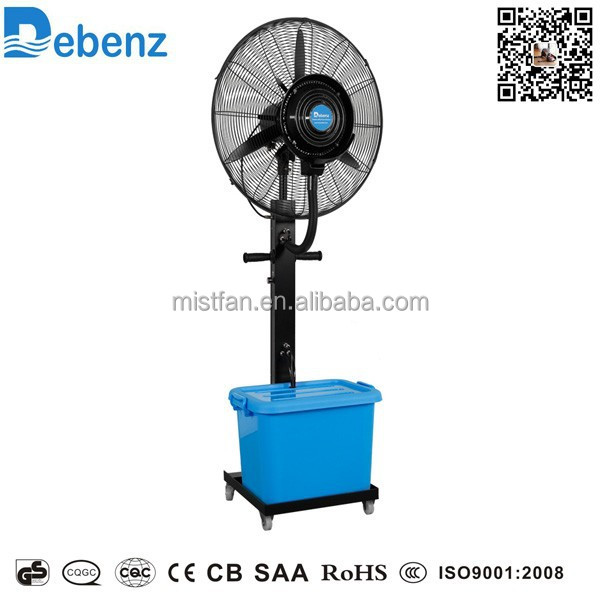 Industrial Water Cooling Fans : V quot vertical mist cooling industrial fan with spray