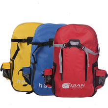 Red durable fabric lady shoulder laptop backpack bag