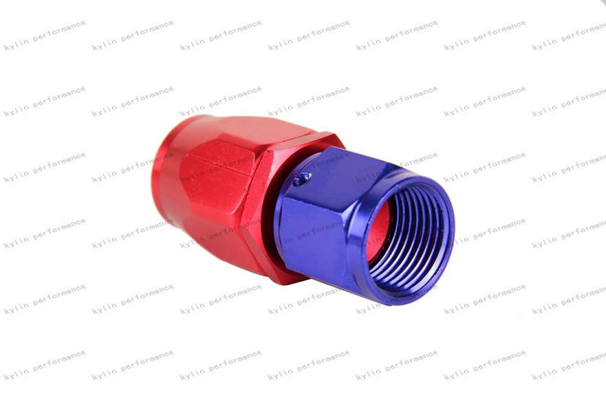 Kylin AN -10 Straight Purple and Red Oil Cooler Hose Fitting