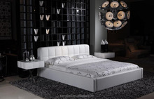 Fancy Soft white Leather Bed