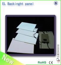 Polar bright 150cd/cm2 pure white EL backlight/EL panel/EL sheet, any size can be made