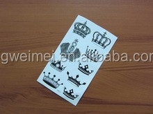 Water transfer PET film hot-selling noble crown sticker tattoo