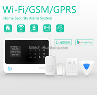 FDL Android + IOS APP application ,LCD words menu APP controlled GSM home alarm,gsm home appliance control system