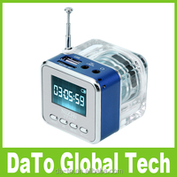 New Mini Digital LCD USB Music MP3 Player Speaker With FM Radio Alarm Clock