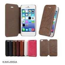 Hot sale smart pu leather cover case for iphone5 5s from alibaba manufacture