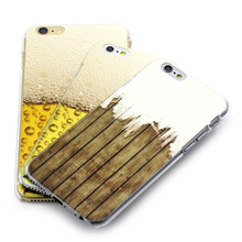 Hot new products for 2015 for apple iPhone 5s 6 plus mobile phone case with beer and wood design
