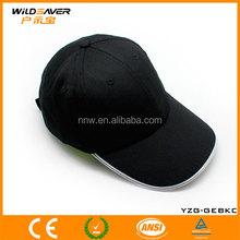 Hot sell baseball cap with flashing optical fiber
