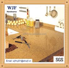 Beautiful golden artificial quartz stone for kitchen table