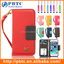 Card Holder Wallet Phone Case For Iphone 5 / 5S , Wallet Leather Case , Mobile Phone Wallet Case