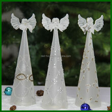 2014 New Design Amazing tall white angel wing sets christmas ornaments with high quality