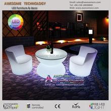 LED illuminated garden furniture plastic outdoor furniture