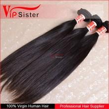 Wholesale Price 100% Unprocessed Brazilian hair weave Color 1b# 6A Grade No Shedding hair straightener