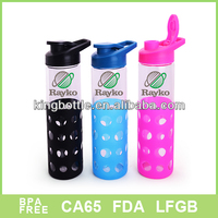 silicon sleeve glass water bottles manufacture wholesale