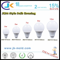 Japanese pc raw material all plastic led bulb spare parts for led lights