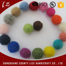 Hot new products for 2015 alibaba china best selling christmas ornament 100% wool felt ball carpet rug