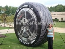 giant inflatable tyre advertising