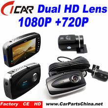Dual Camera Car Dvr Car Front and Rear Camera both HD Night Vision DVR