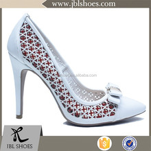 PU special design sexy women stylish pointed toe high heel pump shoes