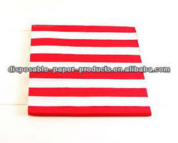 YiWu Kids' Party Tableware Polka Dot Party Supplies Red & White Candy Stripe Paper Luncheon Napkins serviette