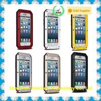 New aluminum metal waterproof case for iphone6,gorilla glass waterproof case for iphone 6,waterproof shockproof dustproof case