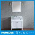homedee branco quadrado base vaidade do banheiro do armário com espelho