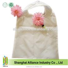 Pink Flower Shape Fashional Reusable Promotional Nylon Foldable Shopping Bag