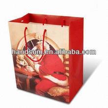 Victorian-Inspired Santa Teddy Christmas Kraft Gift Bag,Shopping Gift Paper Bag,18 x 23 x 10cm;33 x 45 x 10 art.40007