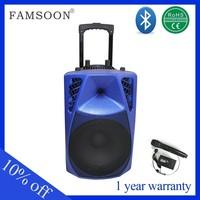 Professional active trolley speaker portable mini speaker radio cassette