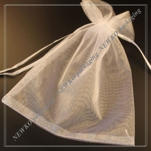 Popular wholesale organza gift bags with logo customized