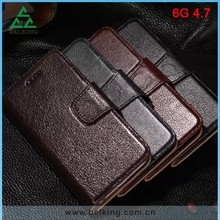 Real Leather Business Case For iPhone 6, For iPhone 6 Wallet Leather Fold Case
