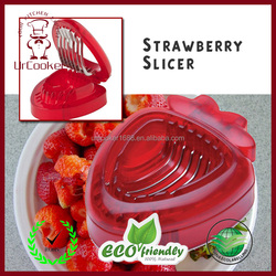 Fruit strawberry slicer with stainless steel blades