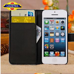 hoch Qualität Wallet Case Leder Tasche Etui Flip Case Cover Hülle Leder für iPhone 5c