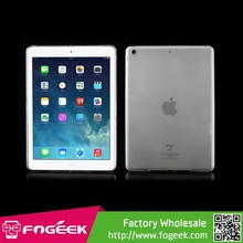 Transparent Inner Matte Outer Glossy Slim TPU Gel Case For iPad Air