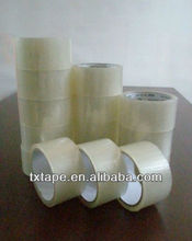 clear adhesive BOPP packing tape with various width like 45mm,48mm,60mm etc