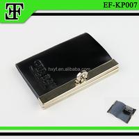 Fashion luxury metal frame promotional new style leather key holder key wallet key bag