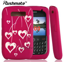 Heart Shape silicone case For Blackberry Curve 8900 laser cut design phone cover